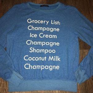 New WILDFOX Grocery List Champagne, Ice Cream list